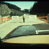Highway 504 to Mount St. Helens is closed in May 1980. Photo by C. Dan Miller, USGS.