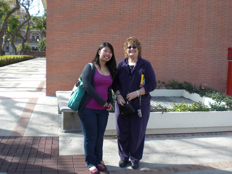 Bonnie Lau at USC w/Mrs. Heinrichsen