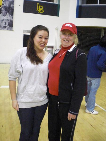 Alyssa Kanzaki '07 WHS grad talks to the group at Long Beach State
