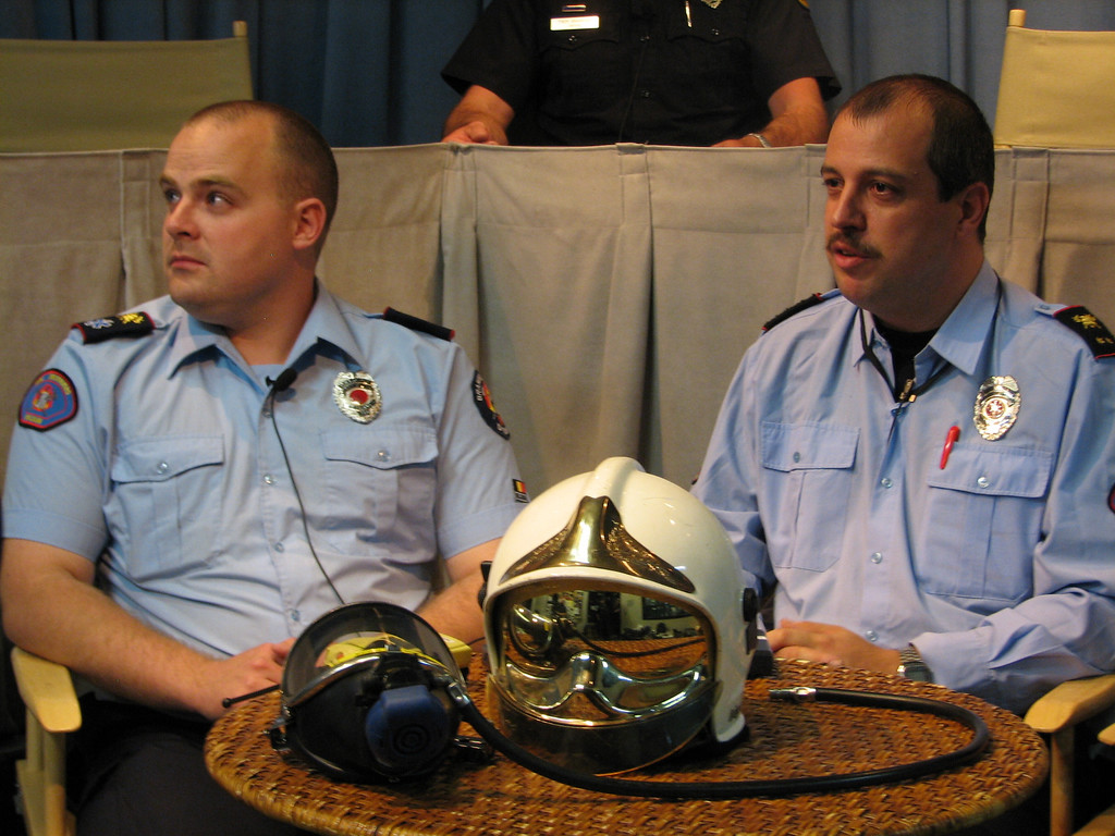 3 of the 14 Belgian firefighters go on FDCTV to introduce themselves and discuss firefighting in Belgium as well as showing off some Belgian firefighting equipment and answering questions from viewing stations. They have quite a sense of humor!