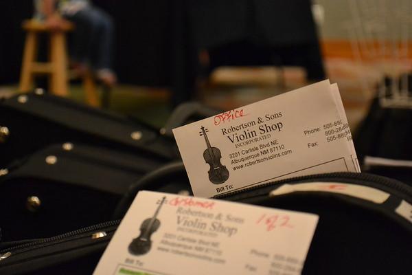 June 14, 2015 - Set up Day  (7) violins to rent or buy