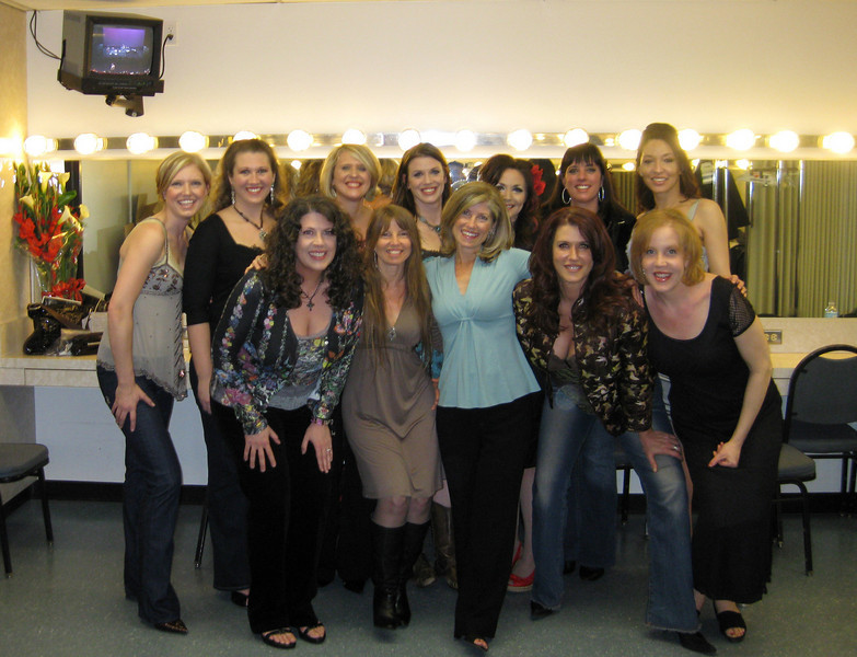 National Directors with founder, Lori Maier, in the green room after the show. Ahhhh....
