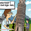 CSS Pun about Pisa Tower