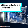 CSS Pun about Big Bang