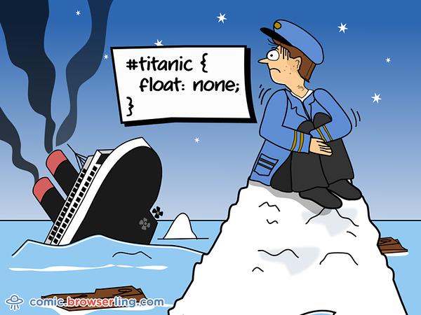 CSS Pun about Titanic