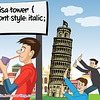 CSS Pun about Tower of Pisa