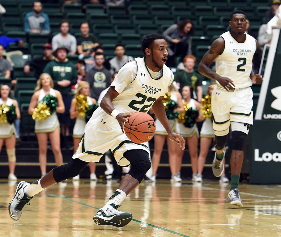 Colorado State University's #22 J.D. Paige during their game against Fort Lewis Wednesday, Nov. 16, 2016, at Moby Arena in Fort Collins. (Photo by Jenny Sparks/Loveland Reporter-Herald)