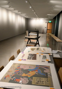 Artwork awaits hanging during a tour of the new Humanities and Fine Arts Building on CSUC campus Thursday Aug. 4, 2016. (Bill Husa -- Enterprise-Record)