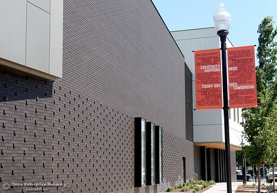 A view of the exterior of the building is seen during a tour of the new Humanities and Fine Arts Building on CSUC campus Thursday Aug. 4, 2016. (Bill Husa -- Enterprise-Record)