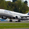8000th 737 Renton B1 Take off United Airlines