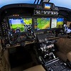 Photography of the Beechcraft King Air 350 cockpit with the Rockwell Collins Pro Line Fusion integrated flight deck.<br /> <br /> Beechcraft Delivery Hangar (BEC)<br /> Wichita, KS  USA