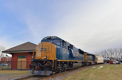 Canadian National #323, St-Jean-sur-Richelieu, Quebec, January 17 2017.