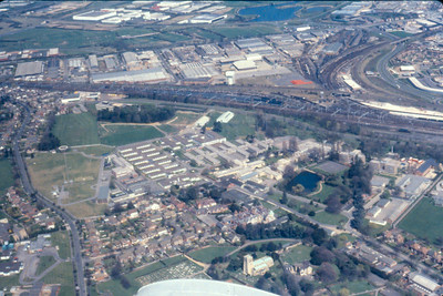 Bletchley Park aerial view c.1982.