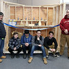 CTEi in Leominster now has an 8th grade introductory trades program that they showed off on Tuesday morning. It has four station for the students to try out and see if they like them. Electrical, plumbing, carpentry and automotive.  These seniors, in the CTEi program, are some of the students that helped build the stations for the eighth graders that may want to come and see if the school is for them. From left is seniors Gabriel Torres, Quinn Serrano, Griffin Finnegan, Edgar Dedos, Jonas Baez and Jacob Ortega. SENTINEL & ENTERPRISE/JOHN LOVE