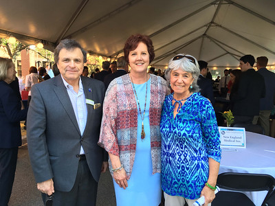 From left, Bill Garr of Walpole, CTI CEO Karen Frederick of Dracut and Deedee O'Brien of Lowell