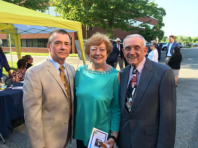 From left, Joe and Mary Pyne, and Frank Makarewicz, all of Lowell