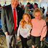 Mayor Bill Samaras of Lowell, one of the evening's honorees, with adorable granddaughters Audrey and Caroline Samaras of Andover