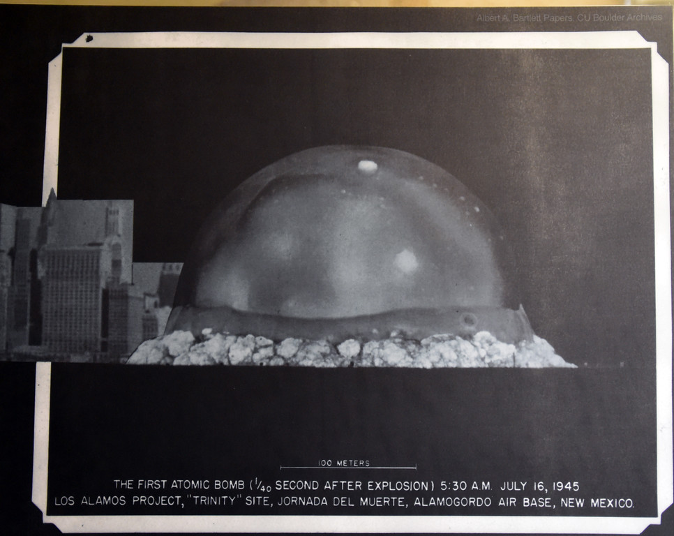 . Albert Bartlett�s Scrapbook contains historic  photos of the Trinity nuclear blasts in New Mexico. The CU Boulder Archives turned 100 this year. Cliff Grassmick  Staff Photographer  June 26, 2018