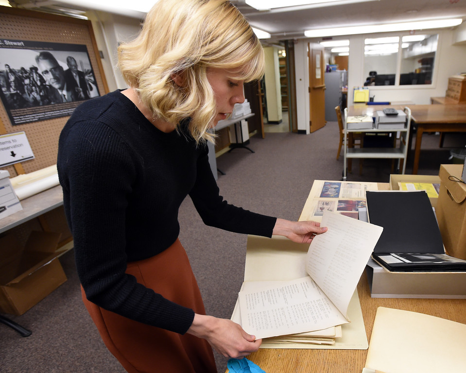 . Katelyn Morken, project archivist, goes through the James Field Willard Collection.  The CU Boulder Archives turned 100 this year. Cliff Grassmick  Staff Photographer  June 26, 2018