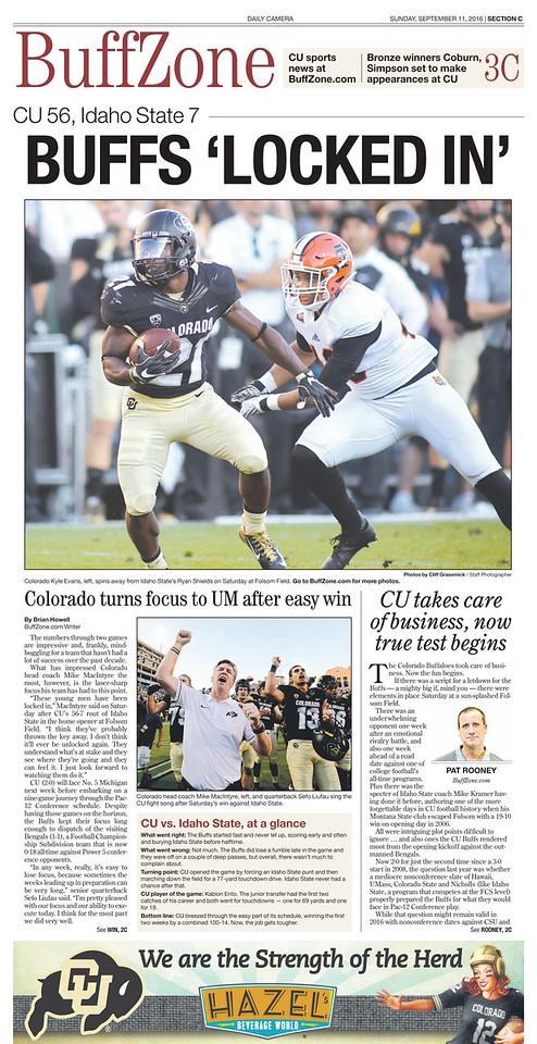 CU Buffzone Front Pages