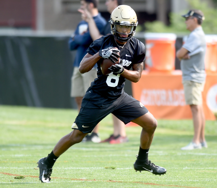 . Alex Fontenot during CU Buffalo football practice on August 2, 2018. For more photos, go to buffzone.com. Cliff Grassmick  Staff Photographer  August 2, 2018