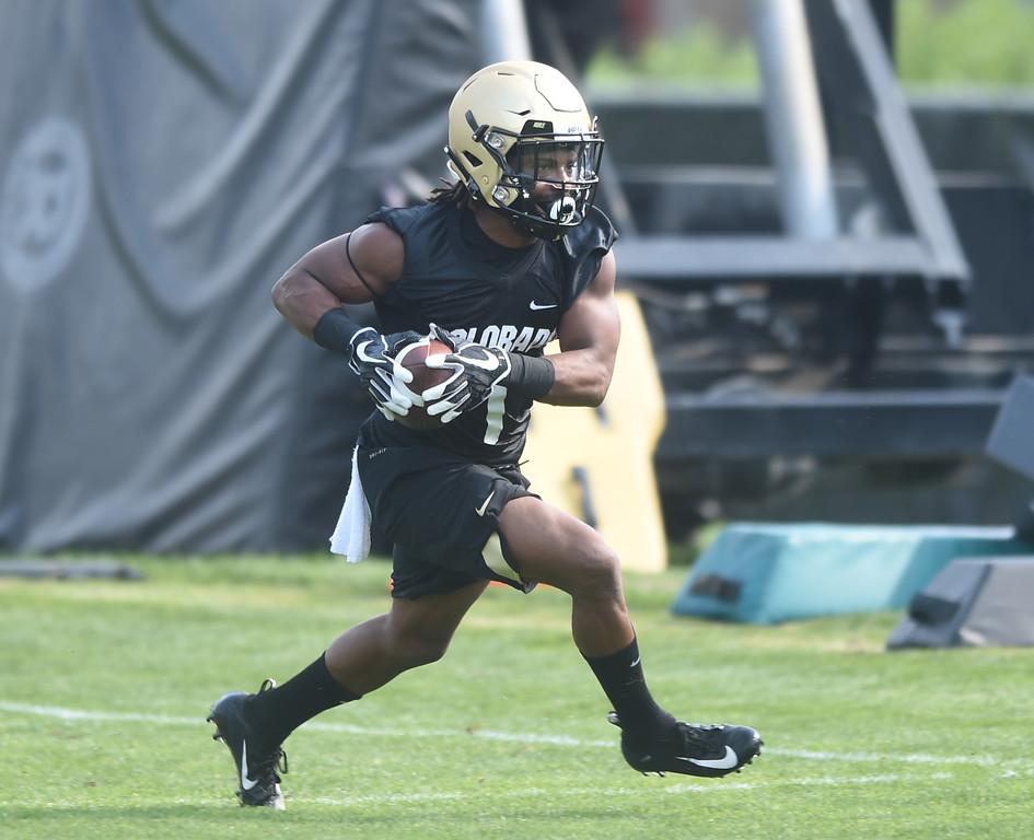 . Donovan Lee during CU Buffalo football practice on August 2, 2018. For more photos, go to buffzone.com. Cliff Grassmick  Staff Photographer  August 2, 2018