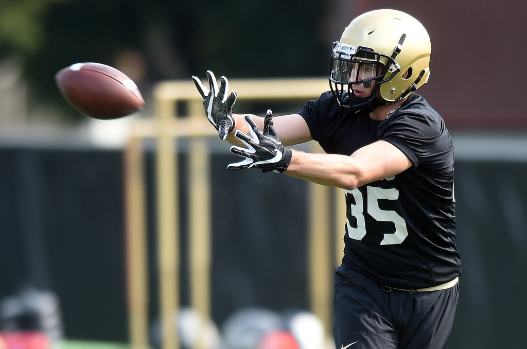 . Beau Bisharat during CU Buffalo football practice on August 2, 2018. For more photos, go to buffzone.com. Cliff Grassmick  Staff Photographer  August 2, 2018