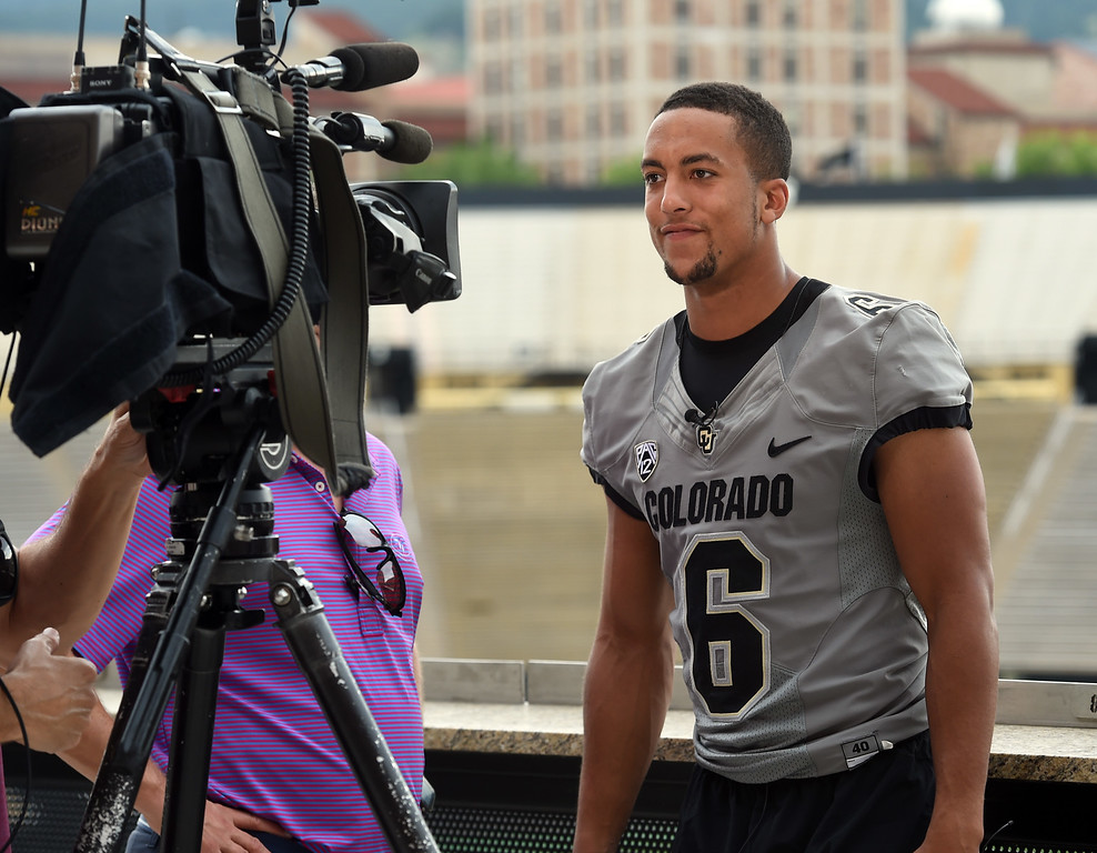. Evan Worthington during CU football and Fall sports media day. For more photos, go to dailycamera.com. Cliff Grassmick  Staff Photographer  August 4, 2018
