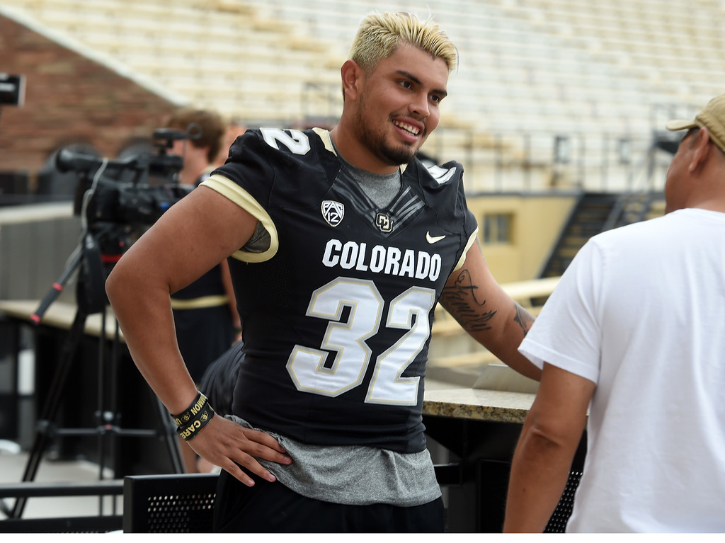 . Rick Gamboa during CU football and Fall sports media day. For more photos, go to dailycamera.com. Cliff Grassmick  Staff Photographer  August 4, 2018
