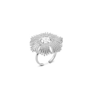 Gatsby big stone ring silver