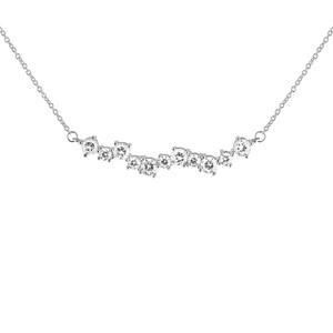 Gatsby stone neck 40-45 silver