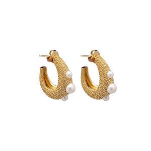 Pearl bubble big ear gold
