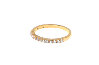 Two stone ring gold