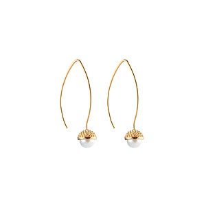Pearl bubble long ear gold