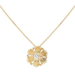 Gatsby stone brosch / pendant gold