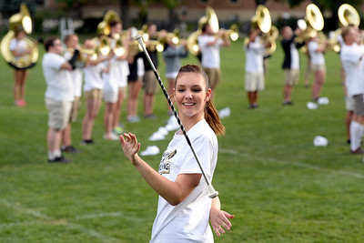 CU Marching Band Twirler Kaitlyn Turnbull