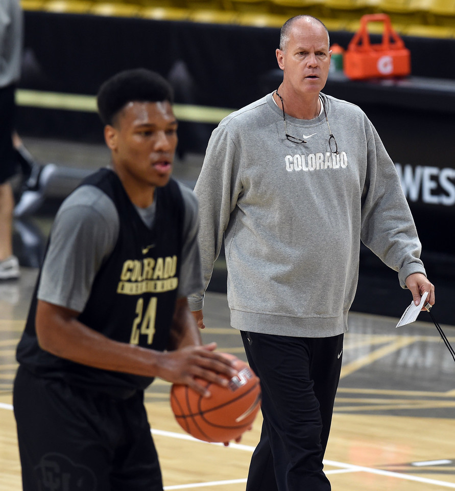 University of Colorado Men's  Basketball Practice