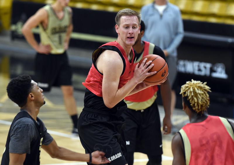 University of Colorado Men's  Basketball Practice
