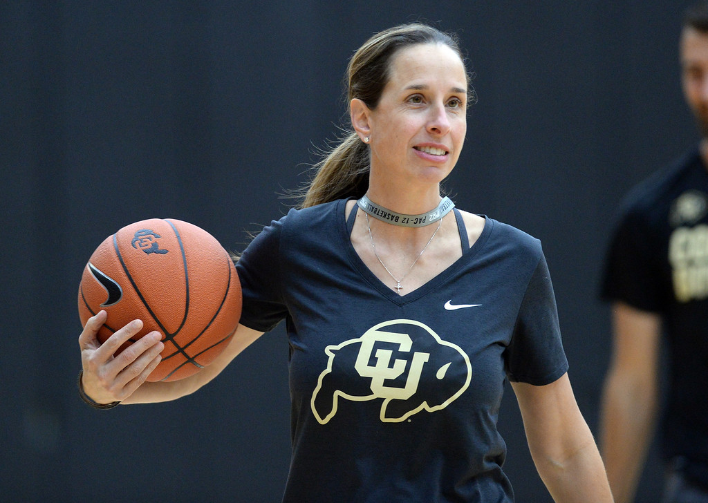 . BOULDER, CO: October 5, 2018: CU WBB head coach, JR Payne, during practice on October 5, 2018. (Photo by Cliff Grassmick/Staff Photographer)