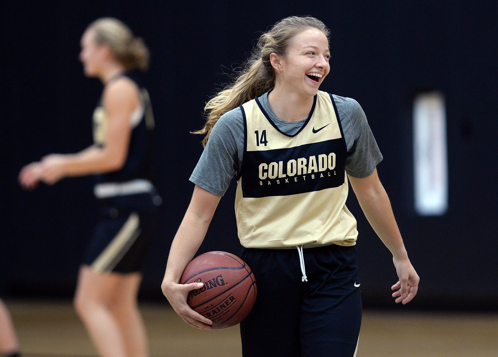 . BOULDER, CO: October 5, 2018:  Kennedy Leonard during practice on October 5, 2018. (Photo by Cliff Grassmick/Staff Photographer)