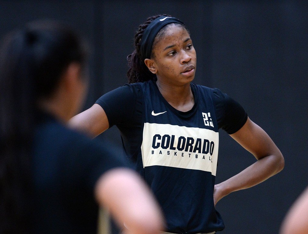. BOULDER, CO: October 5, 2018:  Mathilde Diop during practice on October 5, 2018. (Photo by Cliff Grassmick/Staff Photographer)