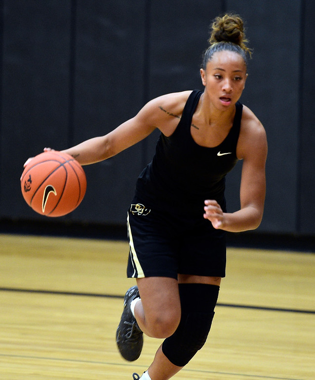 . BOULDER, CO: April 17, 2019: Quinessa  Caylao-Do during a practice session on April 17, 2019. (Photo by Cliff Grassmick/Staff Photographer)