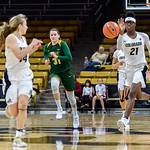 The PAC12 Women's Basketball game between the University of Colorado Buffaloes (CU) and the North Dakota State University Bisons (ND) at the Coors Event Center on the University of Colorado campus in Boulder, Colorado.  Final score of the game was the CU Buffaloes - 108 and the North Dakota State Bisons - 59.