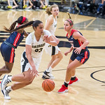 NCAA PAC12 Women's Basketball game between the University of Colorado Buffaloes and Samford University Bullldogs at the Event Center on the University of Colorado campus in Boulder, Colorado on December 20, 2018.