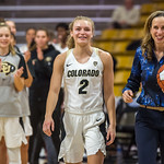 NCAA PAC12 Women's Basketball game between the University of Colorado Buffaloes and the Prairie View A&M University Panthers at the Coors Event Center on the University of Colorado campus in Boulder, Colorado on Decemer 12, 2018.