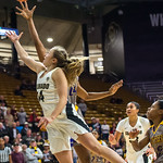 NCAA PAC12 Women's Basketball game between the University of Colorado Buffaloes and the Prairie View A&M University Panthers at the CU Event Center on the University of Colorado campus in Boulder, Colorado on Decemer 12, 2018.