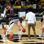 The NCAA PAC12 Women's Basketball game between the University of Colorado Buffaloes and the San Jose Spartans at the Coors Event Center on the University of Colorado campus in Boulder, Colorado.  Final score of the game was the CU Buffaloes - 76 and the San Jose Spartans - 64.