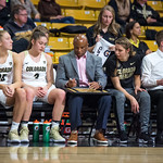 The NCAA PAC12 Women's Basketball game between the University of Colorado Buffaloes and the San Jose Spartans at the Coors Event Center on the University of Colorado campus in Boulder, Colorado.