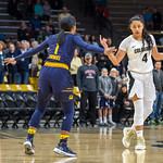 NCAA PAC12 Women's Basketball game between the University of Colorado Buffaloes and the University of California, Berkeley, Golden Bears at the CU Event Center on the University of Colorado campus in Boulder, Colorado. on January 27, 2019.