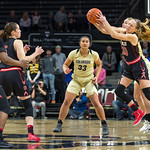 The NCAA PAC12 Women's Basketball game between the University of Colorado Buffaloes and the University of Utah Utes at the CU Event Center on the University of Colorado campus in Boulder, Colorado.